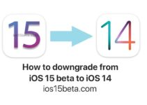 iOS 15 beta to iOS 14