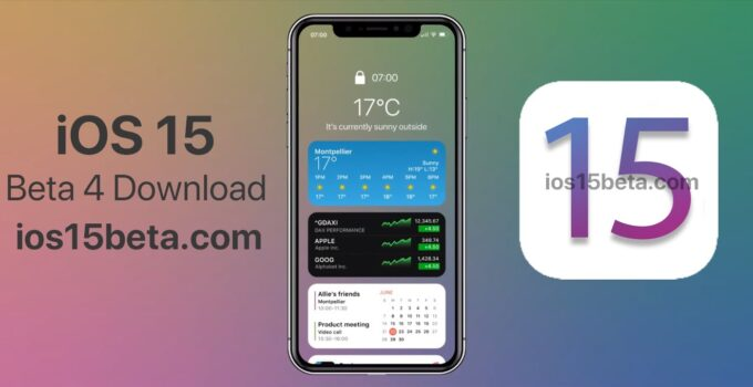 iOS 15 Beta 4 Download